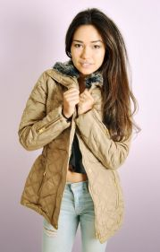Quilted Jacket with Removable Faux Fur Neck Trim